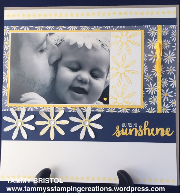 Stampin' Up! Delightful Daisy Suite Scrapbook Page Tammy's Stamping Creations