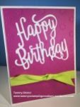 Stampin' Up! Tammy's Stamping Creations Happy Birthday Thinlit Happy Birthday Gorgeous