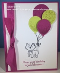 Stampin' Up! Tammy's Stamping Creations Pretty Kitty Balloon Celebration Happy Birthday Gorgeous