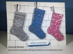 Stampin' Up! Christmas Stockings Thinlits Dies Tammy's Stamping Creations Christmas in July
